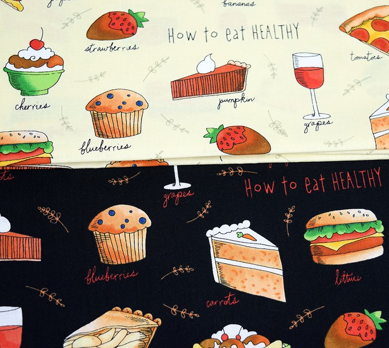 _How to eat healthy , healthy eats fabric